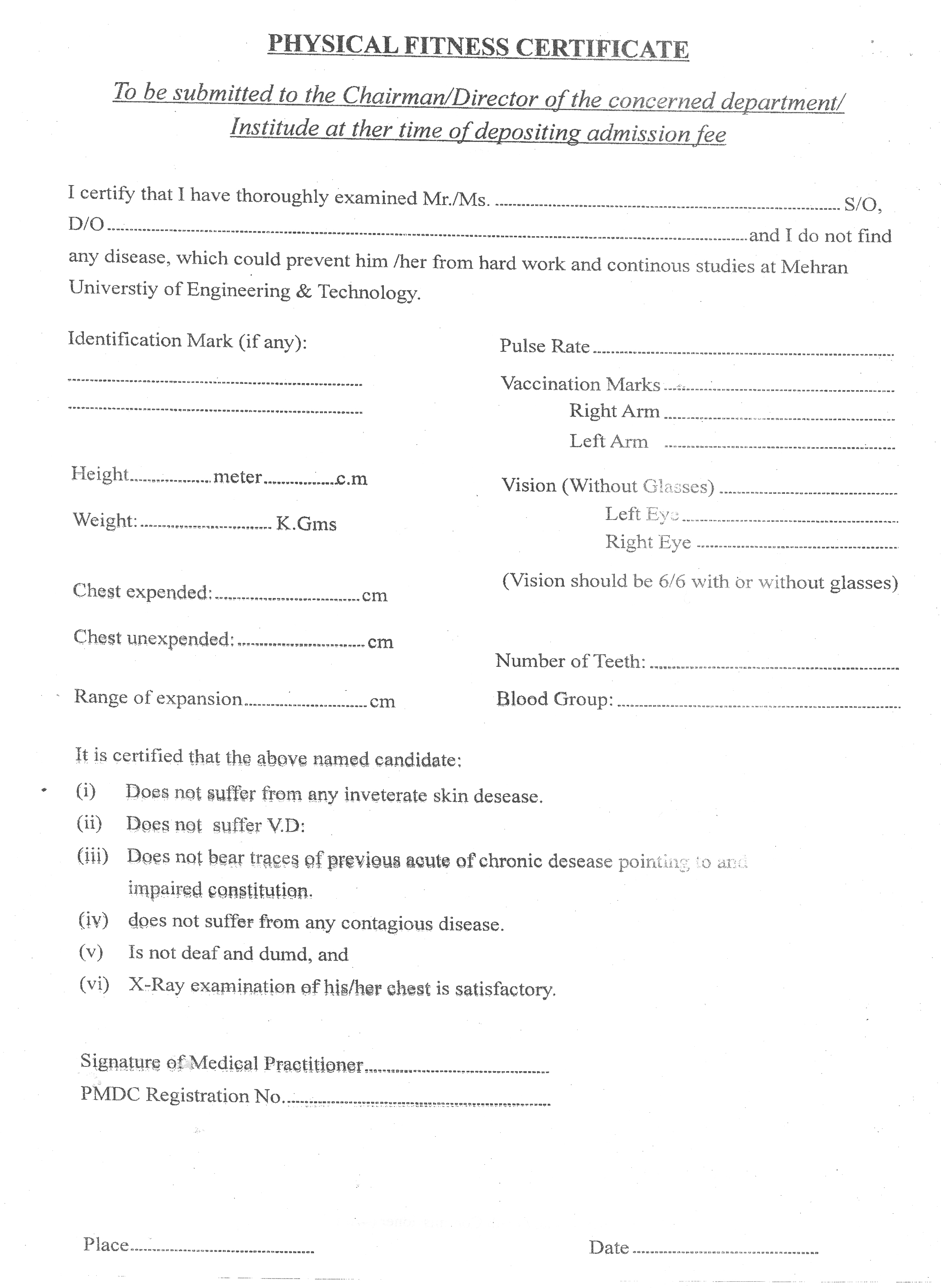 Certificate of physical fitness physician front office medical certificate of physical fitness physician certificate of physical fitness physician yelopaper Images
